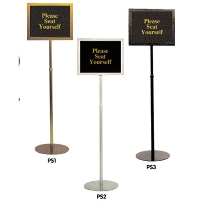 Pedestal Signframes Finish: Matte Black, With Sign Pack: No
