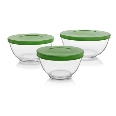 Baker's Basics 3 Piece Glass Mixing Bowl Set