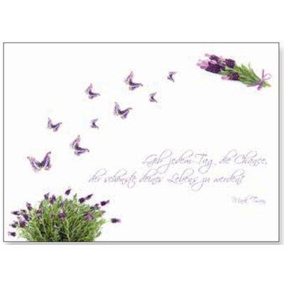 Artland Wandbild Lila Schmetterlinge an Lavendel von Jule