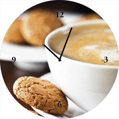 Artland Analoge Wanduhr Caffe Latte 35 cm