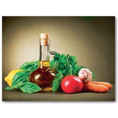 Artland Leinwandbild Gesundes Gemüse und Olivenöl von Subbotina, Anna