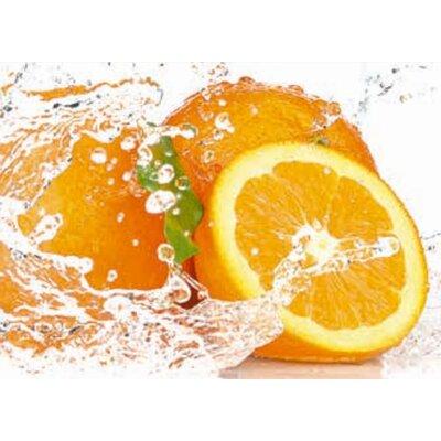 Artland Wandbild Orange mit Spritzwasser von Kesu