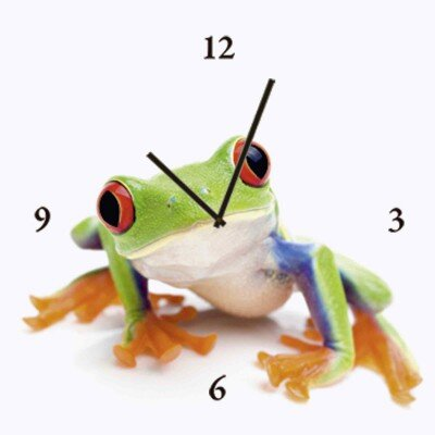 Artland Analoge Wanduhr Frosch