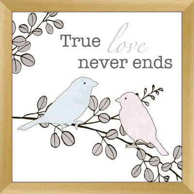Artland Wandbild True love never ends von Jule - 57,2 x 57,2 cm