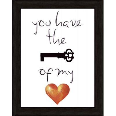 Artland Wandbild You have the key of my heart von Jule - 47,2 x 37,2 cm