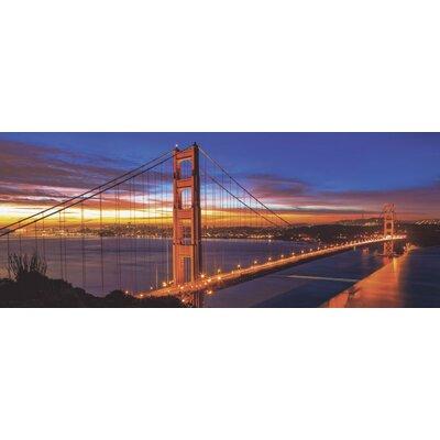 Artland Wandbild The Golden Gate Bridge am frühen Morgen von Nithon - 50 x 125 cm