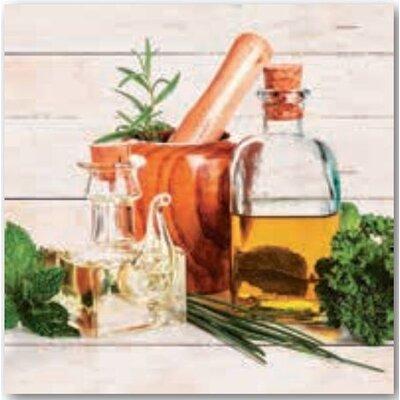 Artland Wandbild Olivenöl und Kräuter
