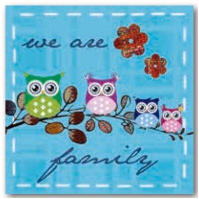 Artland Wandbild Eulenfamilie von Jule