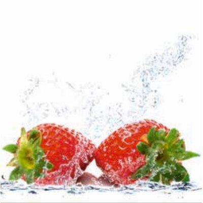 Artland Wandbild Erdbeeren mit Spritzwasser von Porzani, Giuseppe - 60 x 60 cm