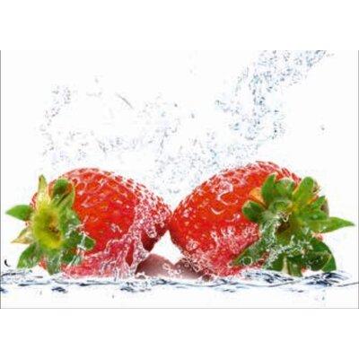 Artland Wandbild Erdbeeren mit Spritzwasser von Porzani, Giuseppe