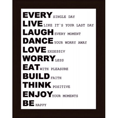 Artland Wandbild Every single day von Jule - 47,2 x 37,2 cm