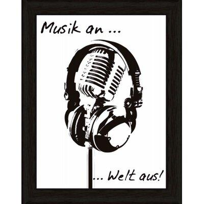 Artland Wandbild Musik an Welt von Jule - 47,2 x 37,2 cm