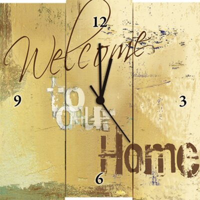Artland Analoge Wanduhr Welcome to our Home
