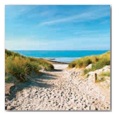 Artland Wandbild Strand mit Sanddünen und einem Weg zur See von Ivonnewierink