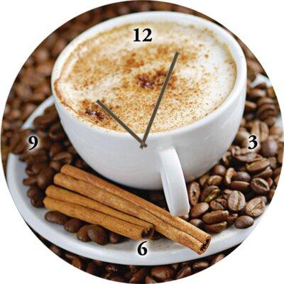 Artland Analoge Wanduhr Cappuccino Kaffee 35 cm