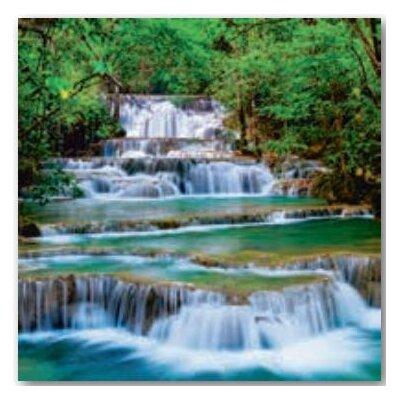 Artland Wandbild Tiefen Wald Wasserfall in Kanchanaburi, Thailand von lkunl
