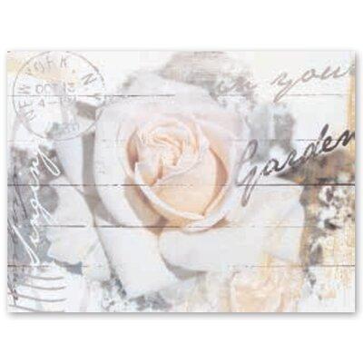 Artland Wandbild In Buchstaben Rose von L., S. - 60 x 80 cm