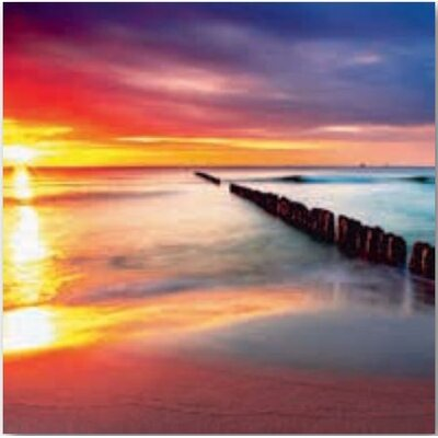 Artland Wandbild Ostsee mit schönem Sonnenaufgang am polnischen Strand