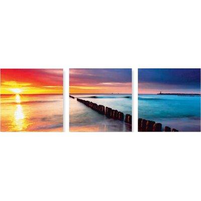 Artland Wandbilder-Set Ostsee mit schönem Sonnenaufgang am polnischen Strand