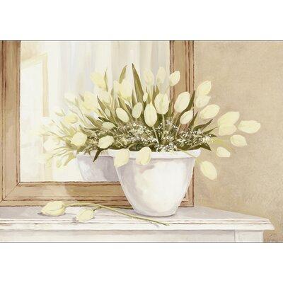 Artland Leinwanddruck Tulpen vorm Spiegel Grafikdruck von A.S.