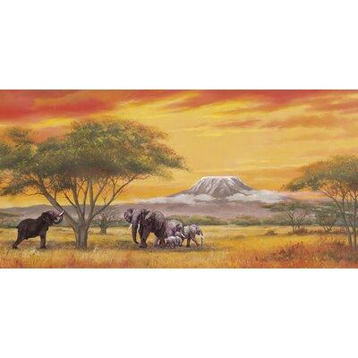 Artland Leinwandbild Elefanten am Kilimandscharo von Heins, A.
