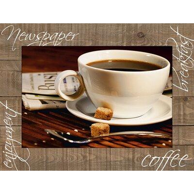 Artland Wandbild Kaffeetasse und Zeitung von Aloksa - 59,9 x 80,9 cm