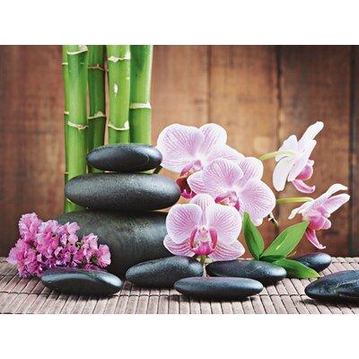 Artland Leinwandbild Spa Konzept mit Zen Steinen und Orchideen von Scorpp