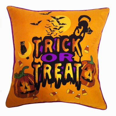 Filos Design Holiday Elegance Trick or Treat Silk Throw Pillow