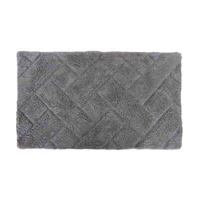 Basket Weave Bath Rug Color: Grey