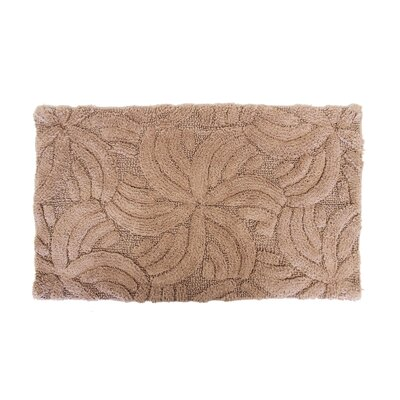 Star Light Bath Rug Color: Brown