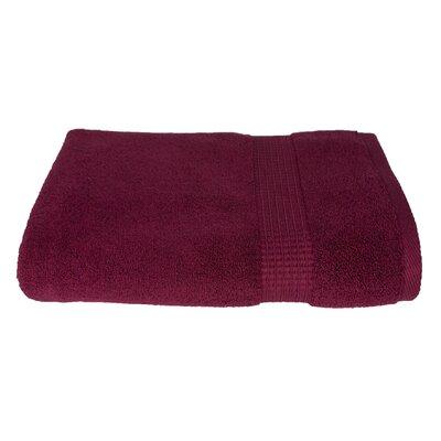 Embellished 5 Piece 100% Cotton Towel Set Color: Crimson Red