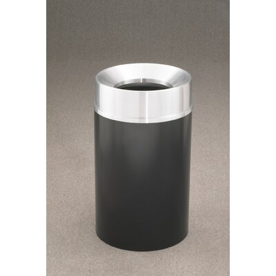 Mount Everest Receptacle 33 Gallon Trash Can Finish: Silver Vein