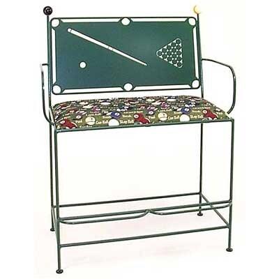 Pool Table Spectator Metal Bench