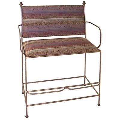 Spectator Upholstered Metal Bench