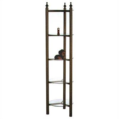 Corner Unit Bookcase Metal Finish: Antique Bronze