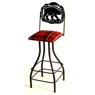 """Grace Collection Silhouette 24"""" Swivel Bar Stool"""