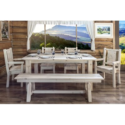 Katlyn Rustic Dining Table Finish: Lacquered