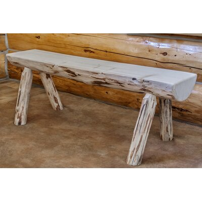 Abordale Half Log Bench Color: Lacquered, Size: 5'