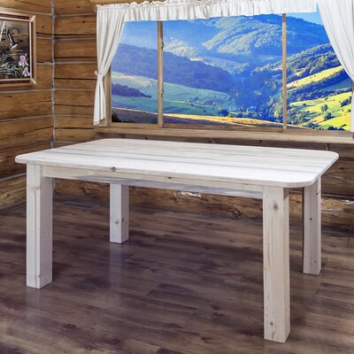 Katlyn Rustic Dining Table Finish: Ready To Finish