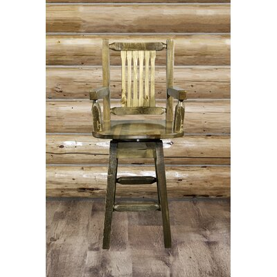 """Haleigh 30"""" Swivel Bar Stool Finish: Stain & Lacquer"""