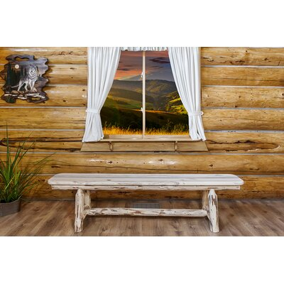 """Abordale Plank Bench Color: Ready To Finish, Size: 18""""H x 72""""W x 20""""D"""