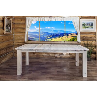 Katlyn 4 Post Extendable Dining Table Finish: Clear Lacquer Finish