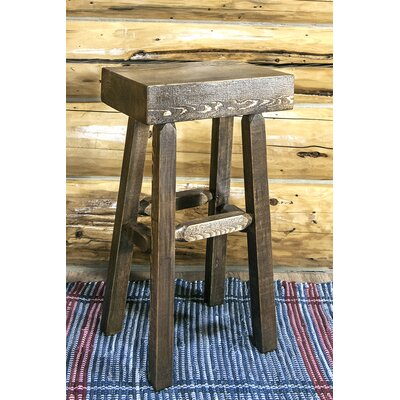 """Katlyn 30"""" Pine Wood Bar Stool Finish: Stain & Lacquer Finish"""