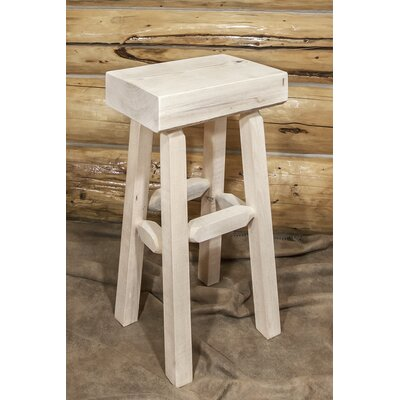 "Katlyn 30"" Pine Wood Bar Stool Finish: Ready to Finish"