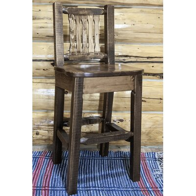 "Katlyn 30"" Square Bar Stool Finish: Stain & Lacquer Finish"
