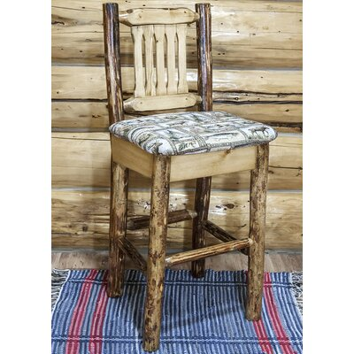 "Tustin 30"" Cabin Bar Stool Upholstery: Wildlife"