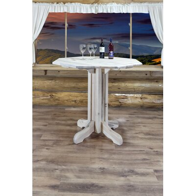 "Katlyn Pub Table Color: Ready To Finish, Size: 40"" H x 45"" W x 45"" D"