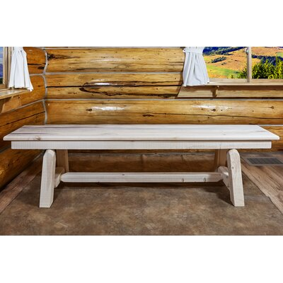 "Katlyn Small Plank Style Bench Color: Ready To Finish, Size: 18""H x 72""W x 12""D"