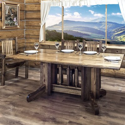 Katlyn Dining Table Double Pedestal Finish: Stained and Lacquered