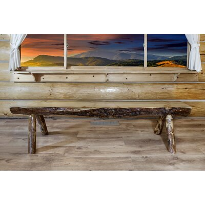 Tustin Half Log Bench Size: 5'